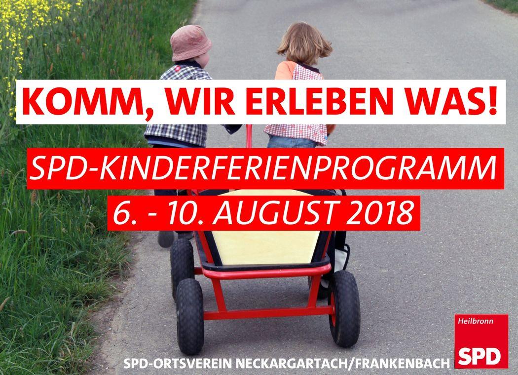 Kinderferienprogramm 2018 Spd Neckargartach Frankenbach